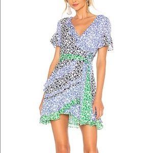Tanya Taylor Bianka Silk Floral Wrap Dress 2
